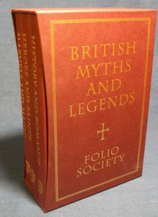 British Myths And Legends / Richard Barber Folio Society Complete 3 Vols Vgc