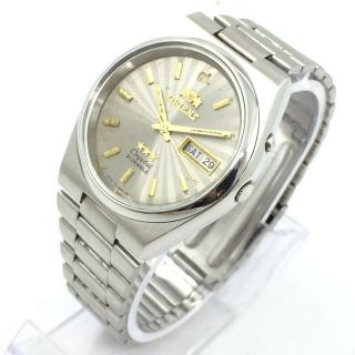 Vintage Mens Orient Crystal Automatic 21 - J D\d 36mm Japan Made Wrist Watch A3977
