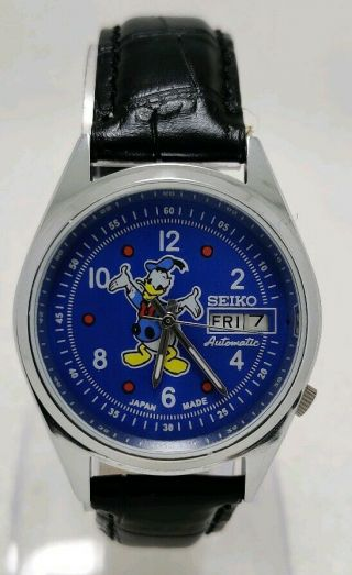 Vintage Seiko Donald Duck Cartoon Character Automatic Movement No.  6319 Watch