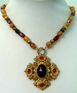 "Stunning Vintage Estate Signed 1928 Assorted Bead 27 "" Necklace 5427p"