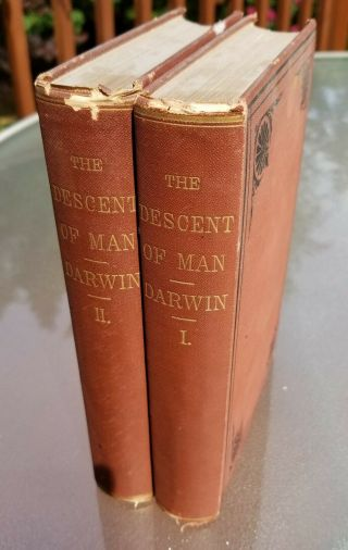 The Descent Of Man Charles Darwin (origin Of Species,  Sel.  In Rel.  To Sex) 1871