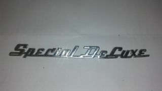 Vintage 1949 - 1950 Plymouth Special Deluxe Fender Emblem Nameplate Convertible