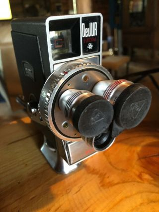 Dejur Custom Electra Vintage Movie Camera Made In Usa,  3 Bausch & Lomb Lens