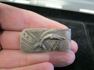 Vintage Mexico Sterling Silver Money Clip With Sailfish