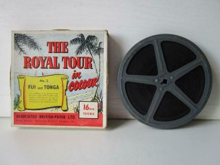 Vintage 16mm Film The Royal Tour In Colour No.  2 Fiji And Tonga With Sound
