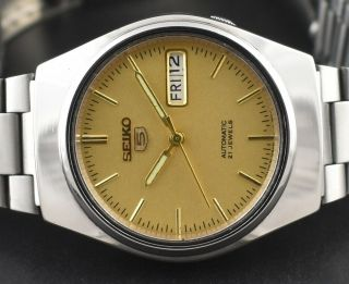 Vintage Seiko 5 Automatic 21 Jewel Cal.  7s26a Day Date Men
