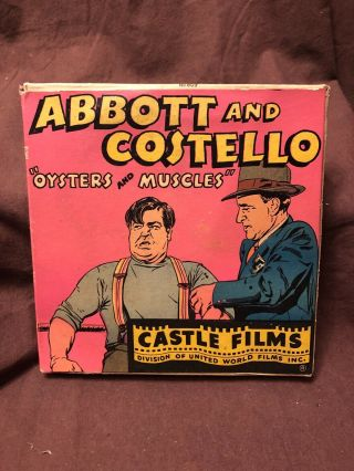 Vintage Abbott And Costello Oysters And Muscles Castle Films Rare 16 Mm Film