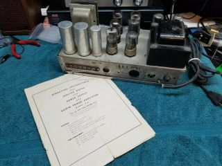 Knight Model 514 Mono Vacuum Tube Amplifier With Tubes -