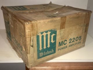 Mcintosh Mc2205 Factory Carton System