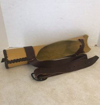 Vintage Quiver Handmade Leather Recurve Traditional Longbow Back Archery Bowhunt