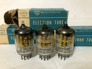 Western Electric We 417a Nos Matched Trio Audio/amplifier Vacuum Electron 3tubes