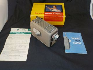 Vintage Kodak Brownie 8mm Movie Camera Model 2 With Box & Instructions