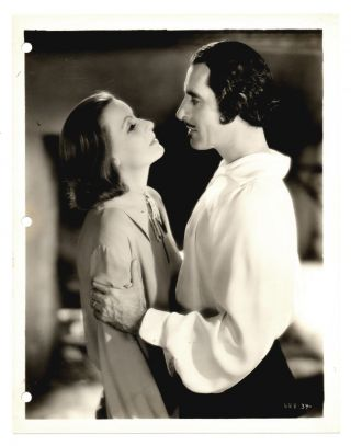 Vintage Mgm 1933 Queen Christina 8x10 Greta Garbo John Gilbert Portrait