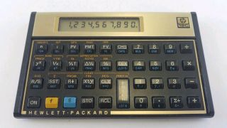 Vintage Hewlett Packard Hp 12c Financial Calculator No Cover &