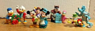 Vintage Rare Set 4 Disney Characters Christmas Carol Mickey Minnie Mouse Donald