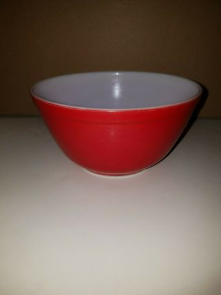Vintage Pyrex Red Mixing Bowl 402 1½ Qt.  Primary Colors Nesting Bowl