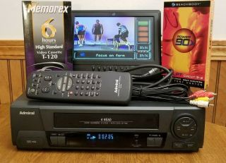 Admiral Jsj - 20450 Vhs/vcr Player Recorder W Remote Vhs Tape And Av Cables