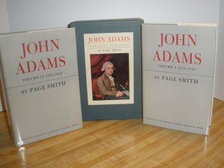 John Adams Page Smith First Edition 2 Volumes American History Presidents