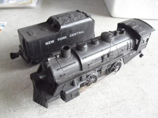 Vintage O Scale Marx 490 Locomotive And York Central Tender Car