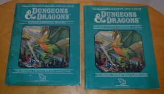 Vintage D&d Dungeon Masters Companion Book One & Two Tsr 1984 Dungeons & Dragons
