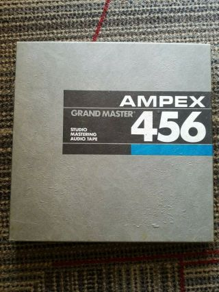 "Ampex 456 Empty Metal Take - Up Reel 10 "" 1/4 "" For Professional Tape Recorder"