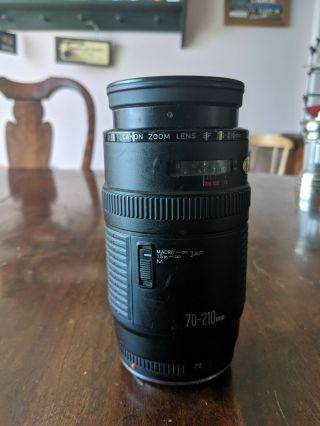 Vintage Canon Ef 70 - 210mm F/4 Auto Focus Push/pull Zoom - With Mold Inside