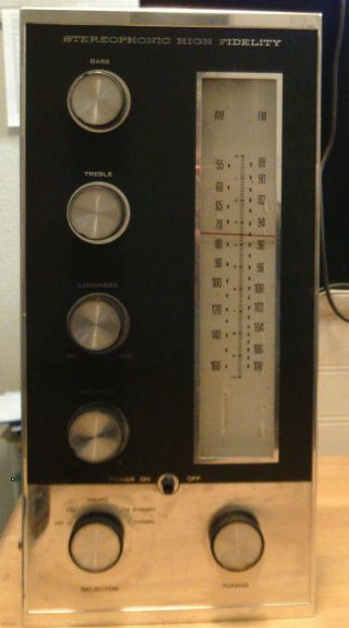 Crestmark Model 1034 Vacuum Tube Stereo Am/fm Receiver Amplifier Chassis