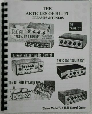 Usa The Articles Of Hi - Fi Preamps And Tuners