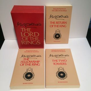 Lord Of The Rings Trilogy 1965 Second Edition Revised Boxed Set