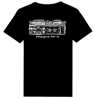 Nagra Iv - S Reel To Reel Tape Recorder Printed Heavy Weight T - Shirts S - 5xl