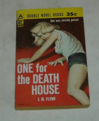 Unread 1961 Ace Double Novel Sleaze Pb Sexy Gga Cover One For The Death House