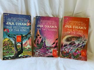 Lord Of The Rings Trilogy All 1st Pb Editions C1965 Set