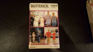 Butterick 3569 Vintage Sewing Pattern Barbie And Ken Doll Clothes,  Uncut