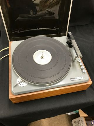 Vintage Elac Miracord 10h Turntable 4 Spd Record Player Without Arm Or Needle