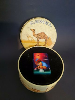Vintage Camel Zippo Lighter And Tin