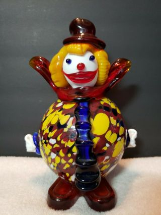 Vintage Art Glass 8 3/4 Inch Clown Murano?