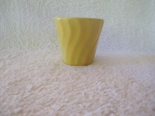 Vintage Bauer Pottery Small Swirl Flower Pot - Yellow -