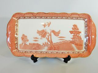 Vintage Royal Doulton Booths Real Old Willow Rustic Large Sandwich Tray Plate