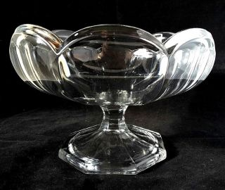 "Davidson Chippendale Vintage Retro Art Glass Fruit Bowl 8 "" D Home Decor Gift"