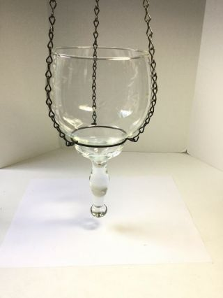 Vintage 1970s Princess House Hanging Crystal Candle Holder Planter