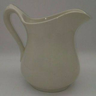 Vintage Royal Crownford Ironstone Pitcher Cream White Falcon Ware England