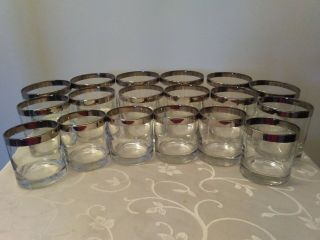 Vintage Dorothy Thorpe Silver Ring Glasses 18 Piece