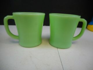 Vintage Jadite Fire King Coffee Cups