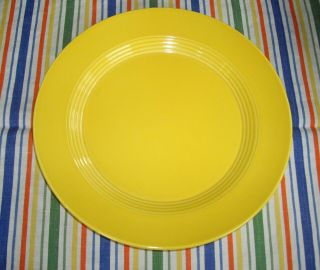 "Vintage Homer Laughlin Harlequin Yellow 10 "" Plate Fiesta Stamped"