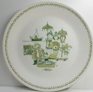 Vintage Figgio Turi Design Market Pottery Ceramic Dinner Plate Norway