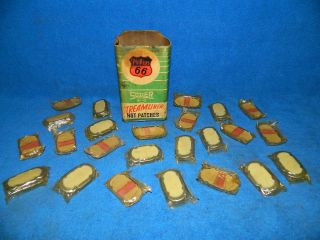Vintage Phillips 66 Shaler Hot Patches Gas Station Tire Repair Shop Box Of 24