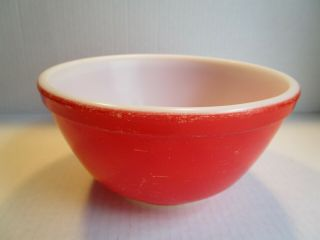 Vintage Pyrex Red Primary Color 402 Mixing Nesting Bowl 1 - 1/2 Qt