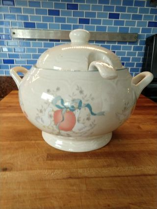 Vtg Soup Tureen With Lid & Ladle By International China Marmalade Geese Japan