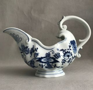 Pv03683 Vintage Blue Danube Japan - Fancy Sauce / Gravy Boat