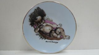 Vintage Brownie Downing Wall Plate Aboriginal Baby Boy Australia Pottery
